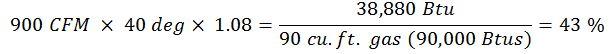 Heat Energy Savings formula 3