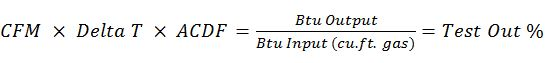 Heat Energy Savings formula